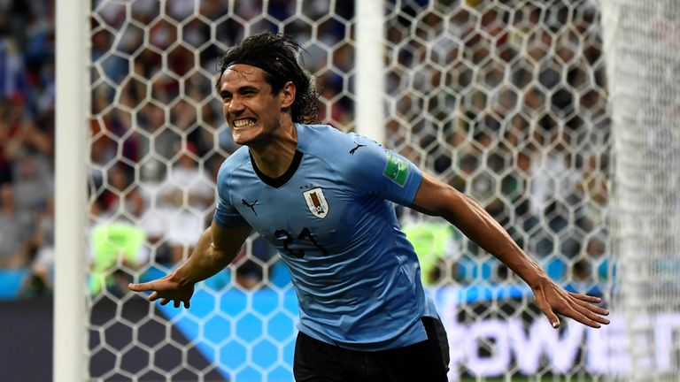Edinson Cavani gave Uruguay a seventh-minute lead