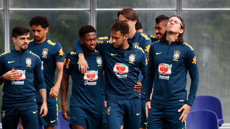 Fred joined Neymar in Brazil's squad for the 2018 World Cup