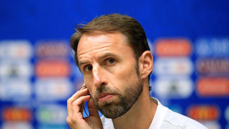 England manager Gareth Southgate during a press conference at Kaliningrad Stadium