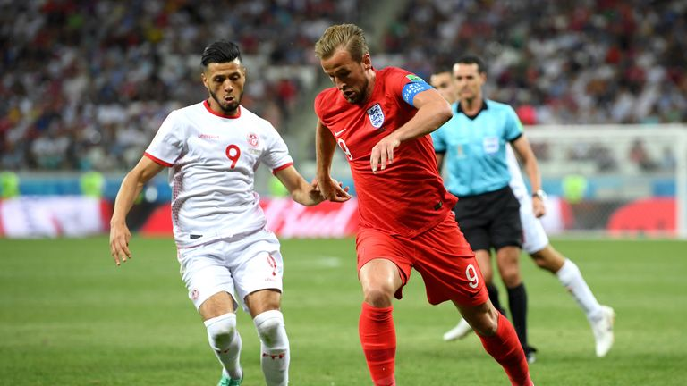 Tunisia were beaten by two Harry Kane goals on Monday