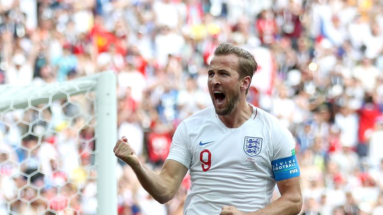 Harry Kane made it five goals in two games as England romped to victory