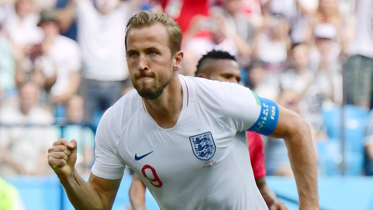 Kane is now top scorer at the World Cup with five goals in two games