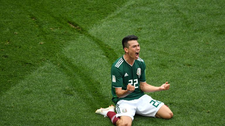 Hirving Lozano scored Mexico's winning goal against Germany