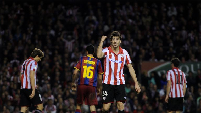 Javi Martinez was moved from midfield to defence by Bielsa at Athletic Bilbao