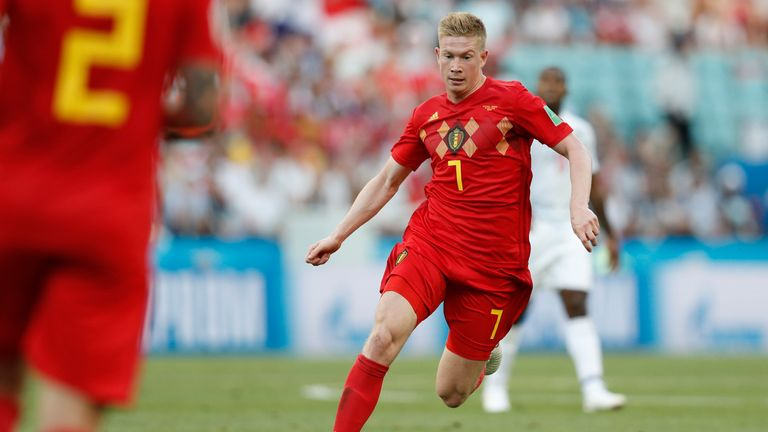 Kevin De Bruyne assisted Romelu Lukaku's opening goal