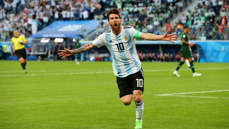 Lionel Messi scored his first goal of the tournament on Tuesday