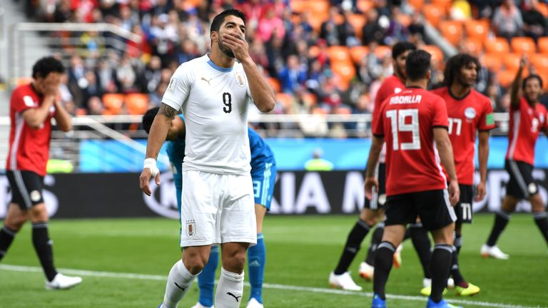 Image result for Uruguay vs Egypt Luis Suarez  post match interview today