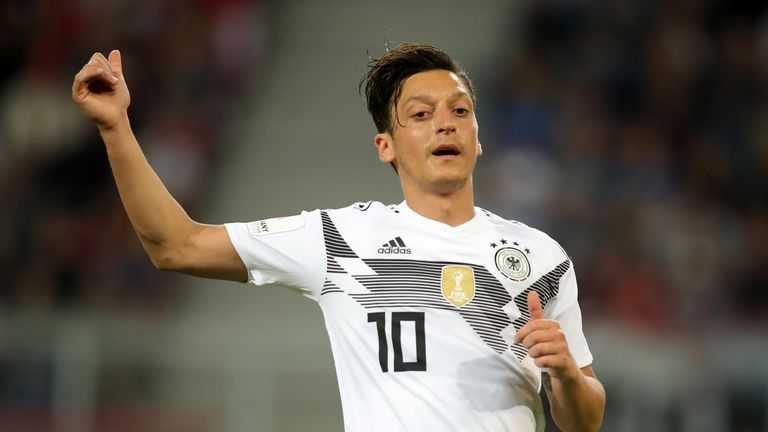 Mesut Ozil is struggling to be fit for Germany's World Cup opener against Mexico