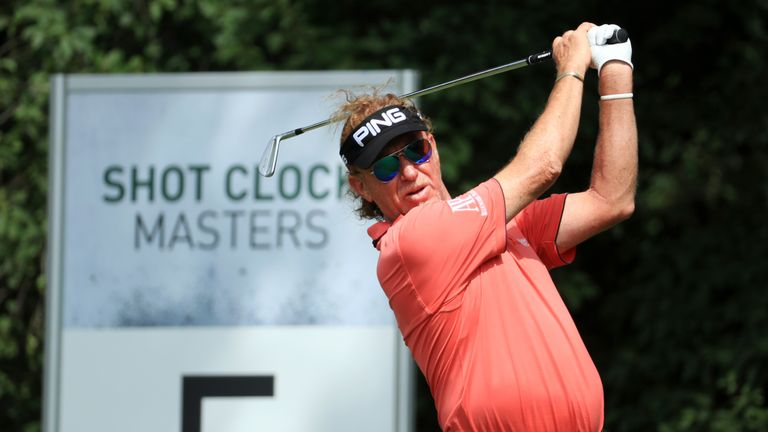 Miguel Angel Jimenez dropped three shots over his last three holes