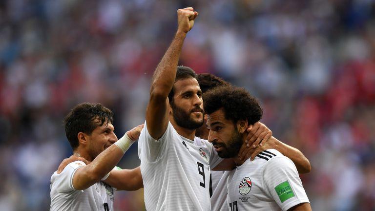 Mohamed Salah scored for Egypt on Monday
