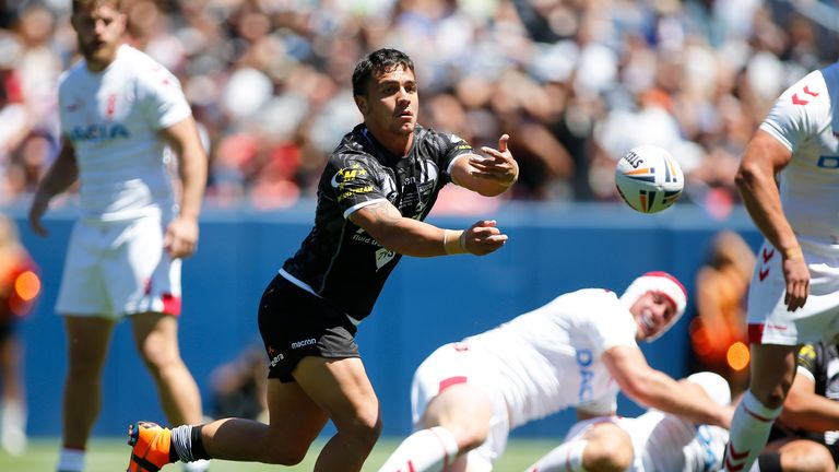 New Zealand took an early 12-0 lead before England took control of the match
