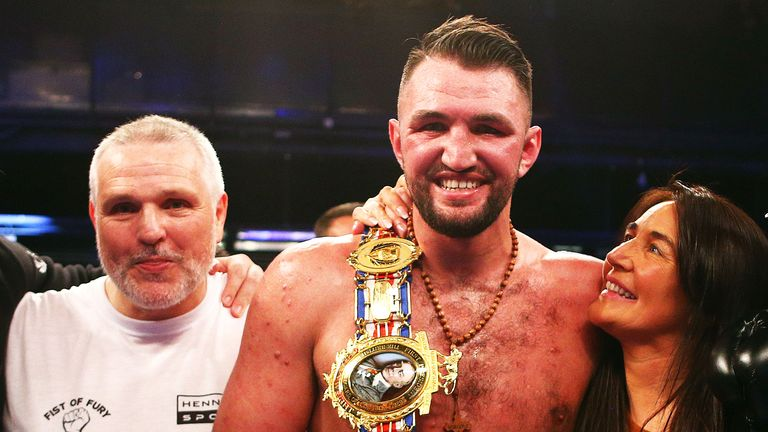 Hughie Fury, cousin of Tyson, is the current holder of the British title