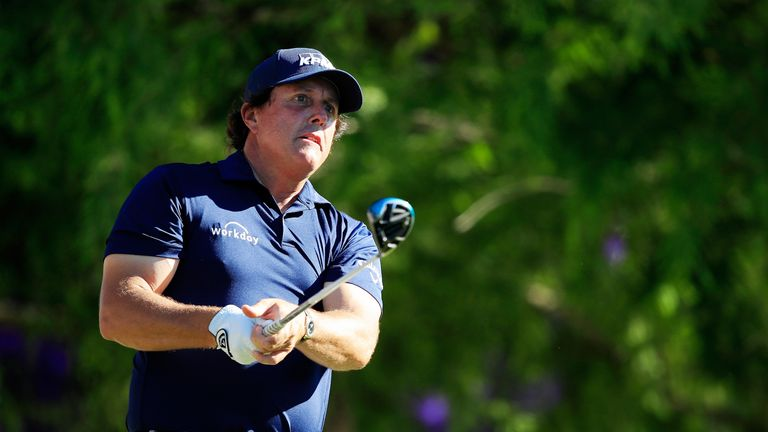 Phil Mickelson is one of 11 players tied for second