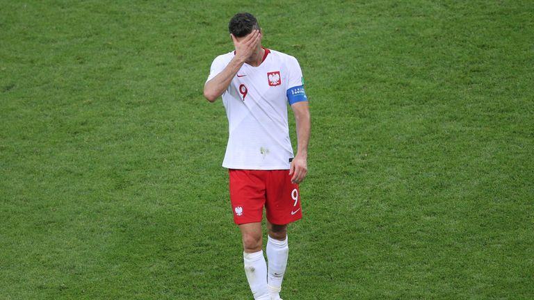 Poland striker Robert Lewandowski has endured a disappointing tournament
