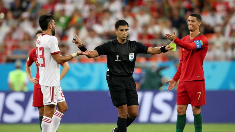 Cristiano Ronaldo was fortunate not to be shown a red card