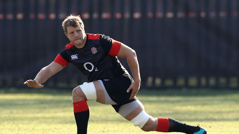 Joe Launchbury trained with his England team-mates in Durban on Wednesday