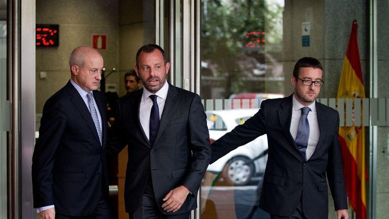 Former Barcelona President Sandro Rosell pictured in 2014