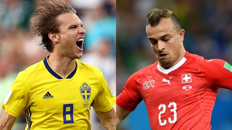 Will it be Sweden or Switzerland who progress to the last eight of the World Cup