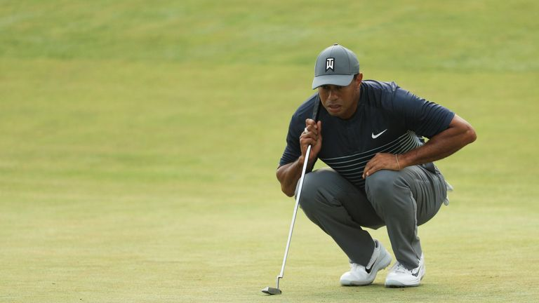 Woods was not happy with his putting on day one