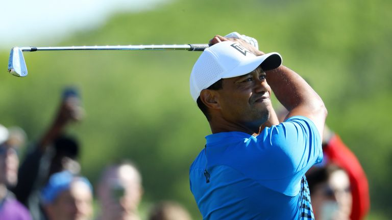 Tiger Woods will be teeing off at 1.02pm in the second round