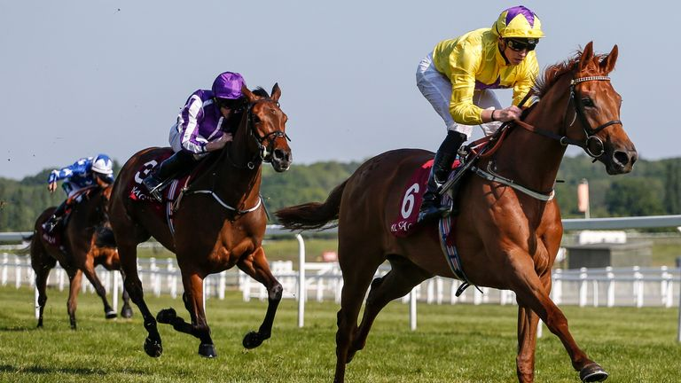 Sea Of Class is in control at Newbury