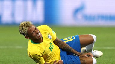Neymar was fouled 10 times in one World Cup match, the most in 20 years