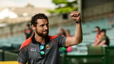 Parsons salutes the Mayo supporters during the qualifier win over Limerick