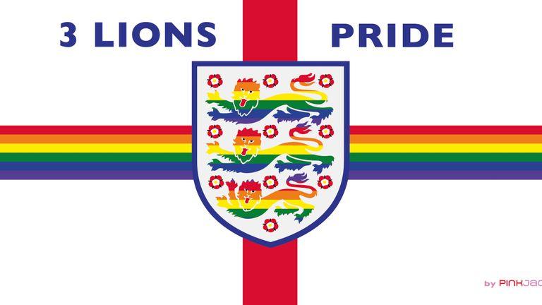 3 Lions Pride flag banner