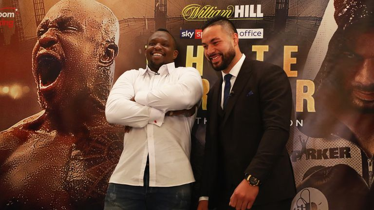 during the Dillian Whyte and Joseph Parker Press Conference at The Dorchester Hotel on June 7, 2018 in London, England.