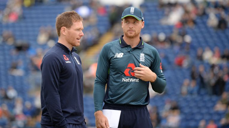 Eoin Morgan missed the second ODI at Cardiff, meaning Jos Buttler took over as captain