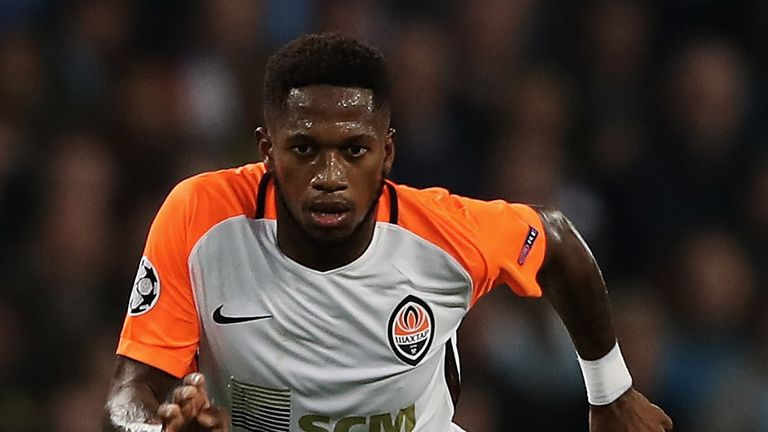 Fred during the UEFA Champions League group F match between Manchester City and Shakhtar Donetsk at Etihad Stadium on September 26, 2017 in Manchester, United Kingdom.