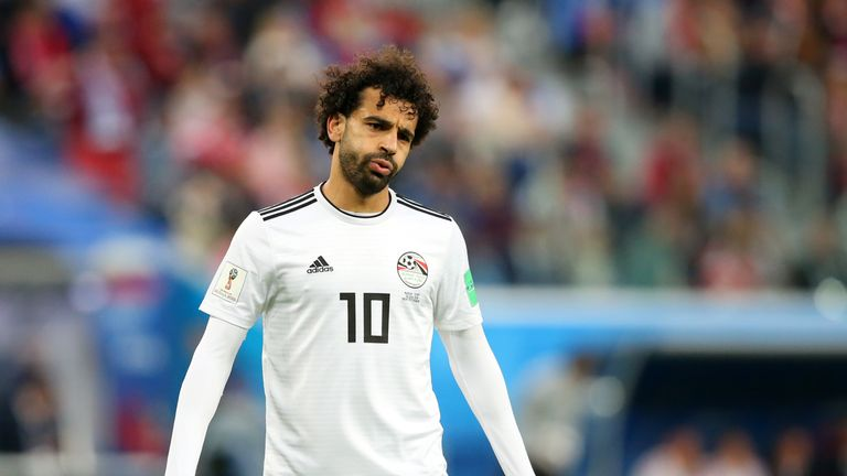 Mohamed Salah during the 2018 FIFA World Cup Russia group A match between Russia and Egypt at Saint Petersburg Stadium on June 19, 2018 in Saint Petersburg, Russia.