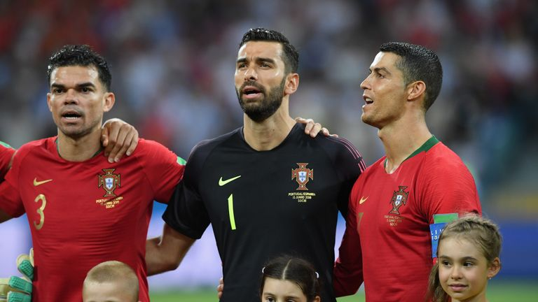 Rui Patricio (left) is Portugal's No 1 goalkeeper