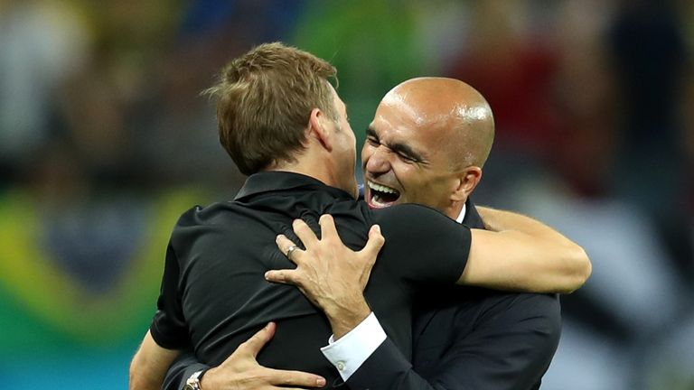 Kevin De Bruyne has praised Belgium manager Roberto Martinez
