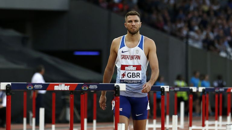 Andrew Pozzi finished a disappointing sixth in the men's 110m hurdles final
