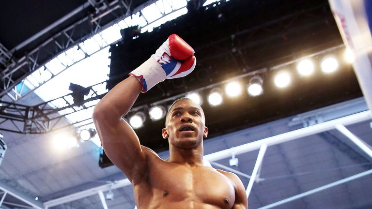 Anthony Joshua made his Wembley debut in 2014