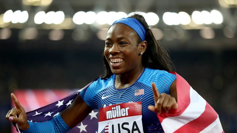 Ashley Henderson was one of a host of winners for the USA on day one of the Athletics World Cup