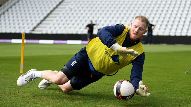 Ben Stokes saved Moeen Ali's penalty in the shootout