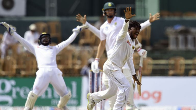 Maharaj claims nine wickets, Sri Lanka out for 338