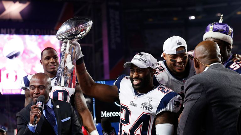 Revis hoisted the Lombardi Trophy for the New England Patriots in the 2014/15 season