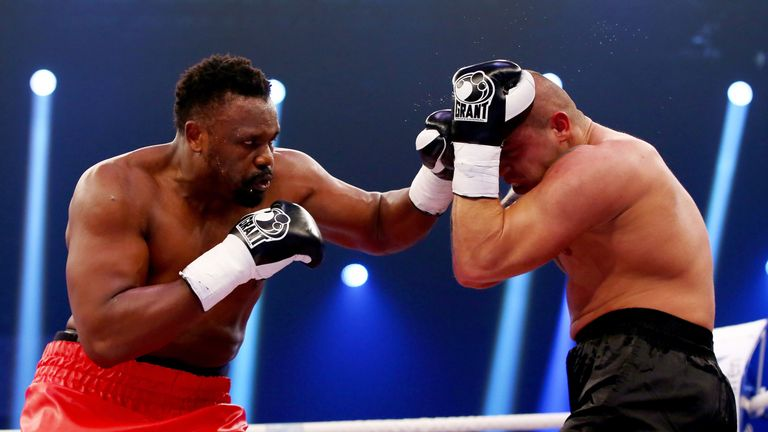 Dereck Chisora has claimed victory at Baden-Arena