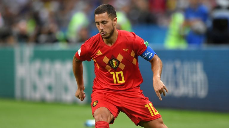 Eden Hazard excelled on the left for Belgium