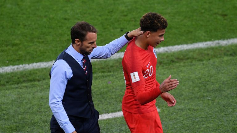 Dele Alli was substituted against Colombia after 81 minutes