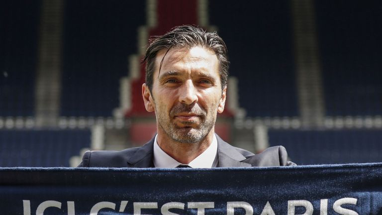 Gianluigi Buffon signed for PSG on a free transfer after 17 years at Juventus