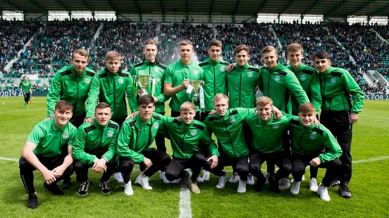 Hibernian won the Development League and Scottish Youth cup last season
