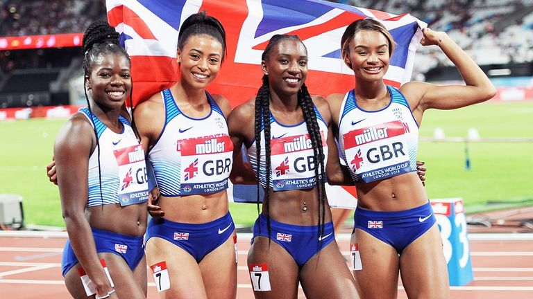 A memorable senior debt for Imani Lansiquot (right) at the London Stadium
