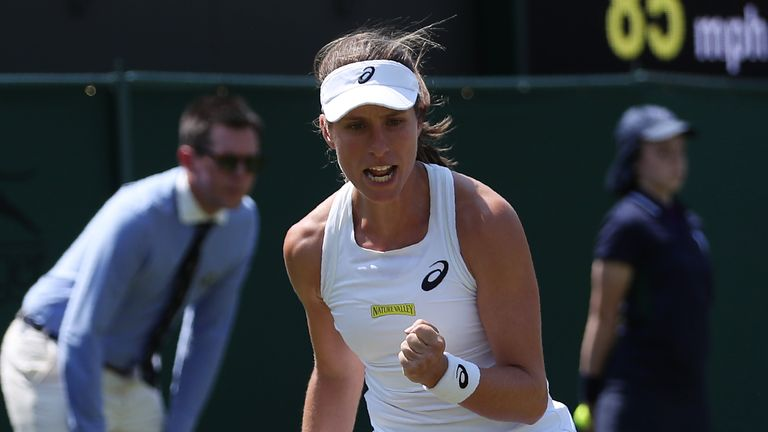 Johanna Konta made it through to the second round of Wimbledon on Tuesday