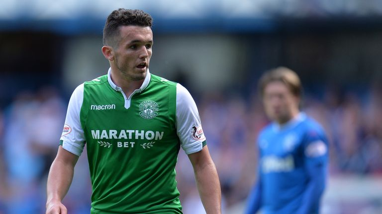 John McGinn was not in the Hibernian squad for their Europa League qualifier on Thursday night