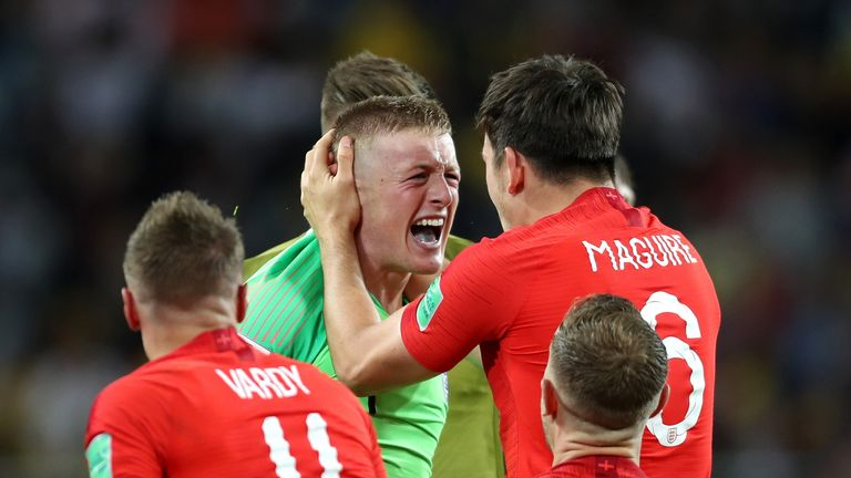 Jordan Pickford was England's hero against Colombia