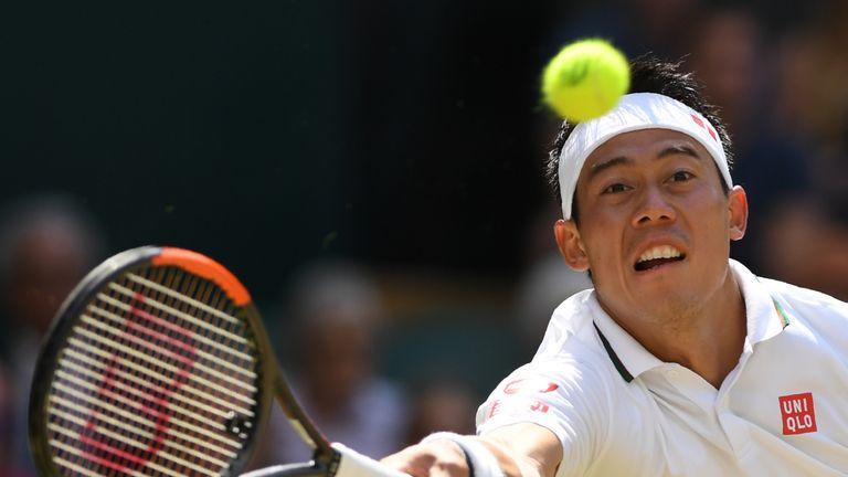 Nishikori was playing in his first Wimbledon quarter-final